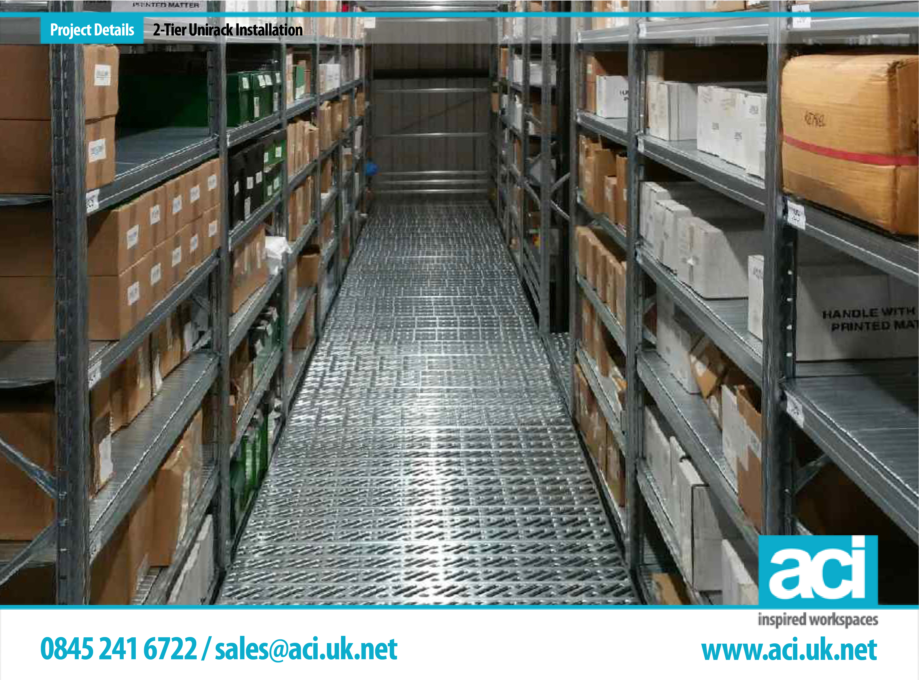 Image of 2 Tier Shelving Warehouse Shelving