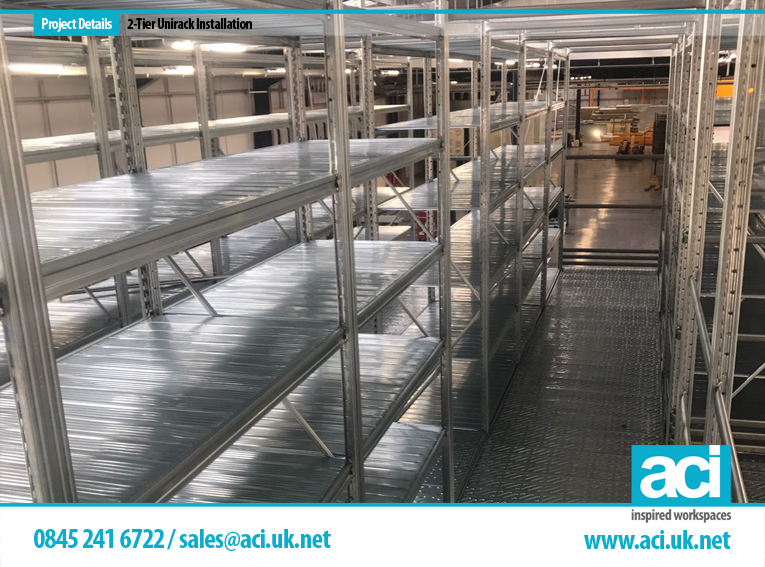 Image of 2 Tier Shelving Unirack Shelving